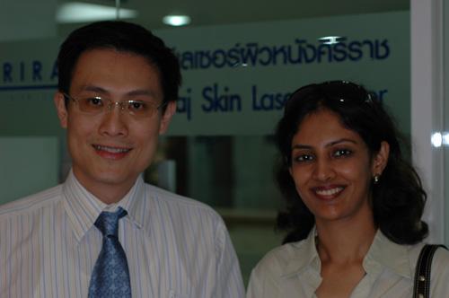 Dr. Rinky Kapoor with Dr. Woraphong Manuskiatti, Bankok, Thailand