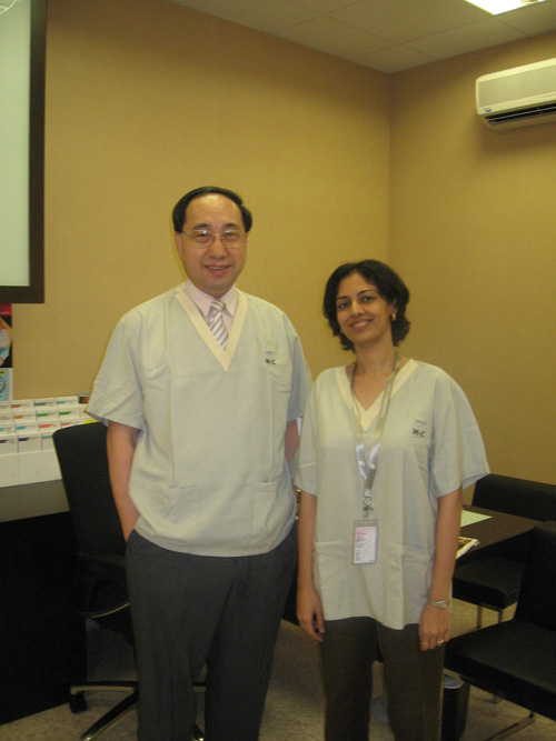 Dr. Rinky Kapoor with Professor CL Goh, National Skin Center, Singapore